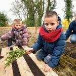 Permaculture sur palette pour les enfants