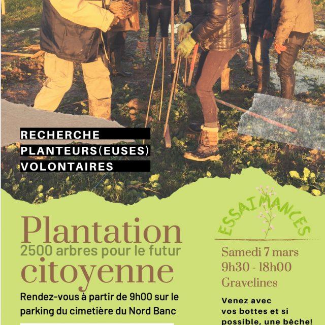affiche plantation citoyenne essaimances